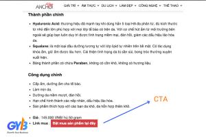 Kiểm tra bài viết chuẩn SEO có các từ ngữ CTA